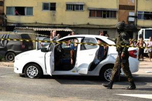 O carro de Evaldo Rosa foi alvejado com 80 tiros. Foto: internet